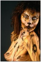 La tigresse, body painting